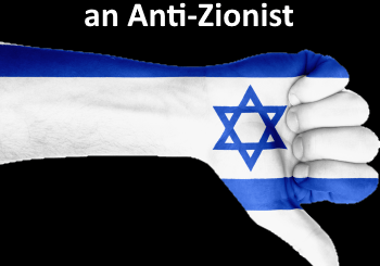 thumbs down of the anti-Zionist