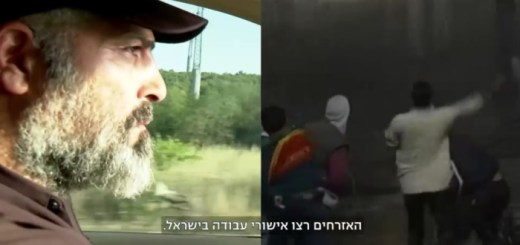 Zvi Yehezkeli drives out to the PA