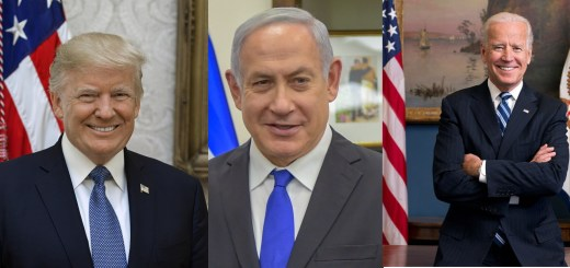 showing Bibi between Trump and Biden