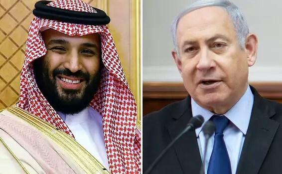 Le Premier ministre Netanyahu et le prince héritier saoudien Ben Salman // Photo: AFP, Emil Salman