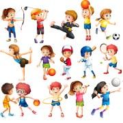 Vectores Infantiles de Deportes