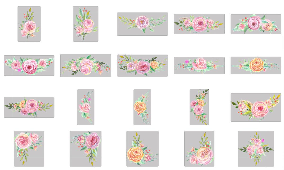 Flores en acuarela