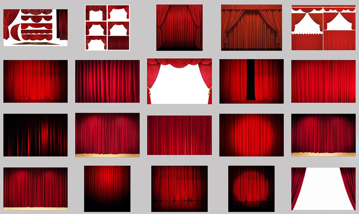cortinas rojas - Cortinas Rojas