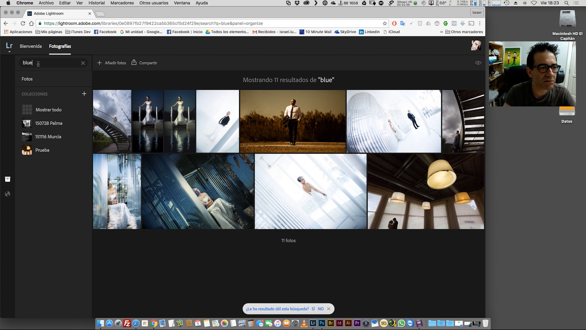 Sincronización de imágenes y Lightroom Web