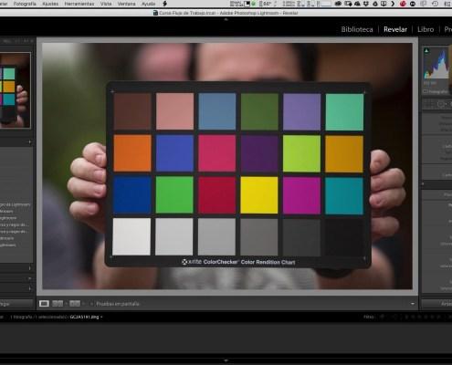 Organización del disco y creación del perfil de cámara