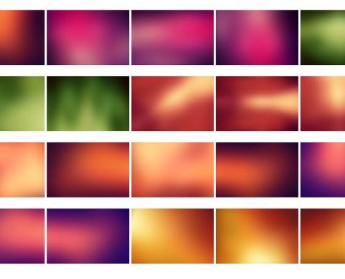 20 Fondos Color Desenfocados