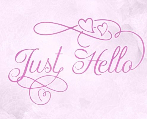 Tipografía Just Hello