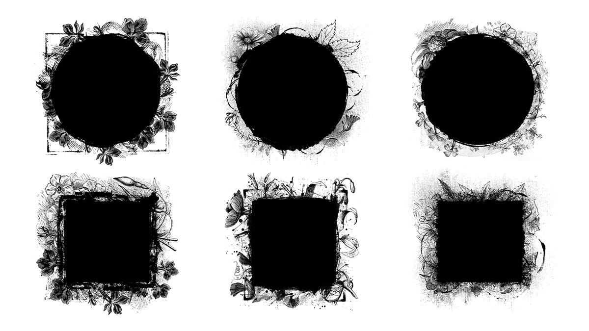 Máscaras botánicas
