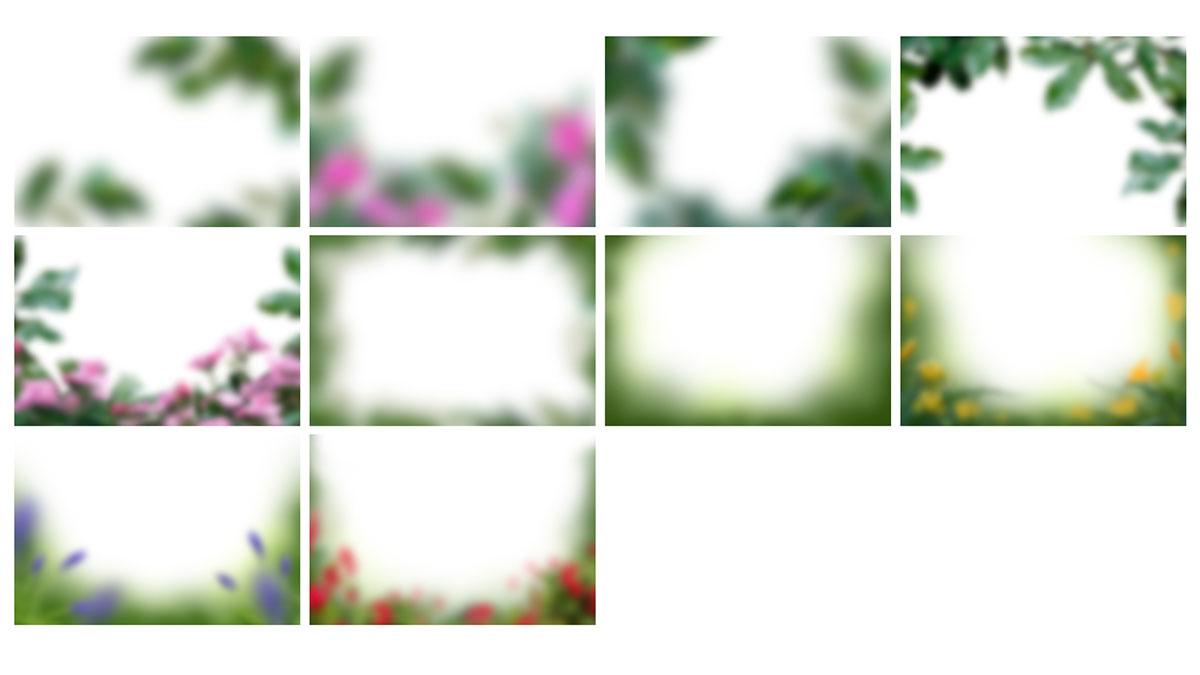 A través de capas de flores
