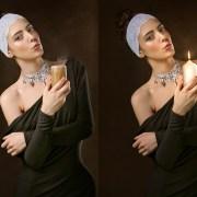 Paquete de velas aisladas foto