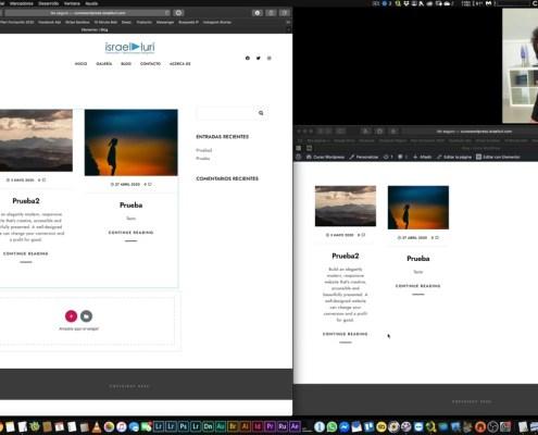 Diseño de la página Blog y optimización de las imágenes