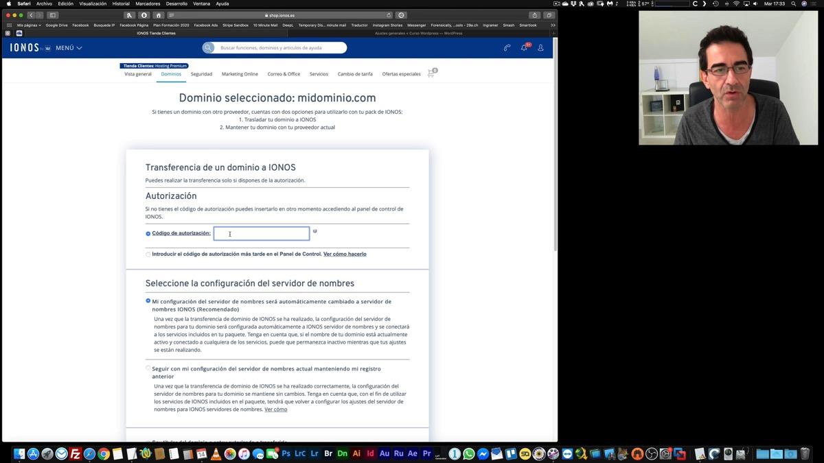 Transferir un dominio desde otro hosting