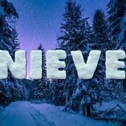 Letras y números de nieve
