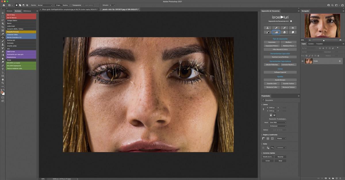 Editando rostros con pecas