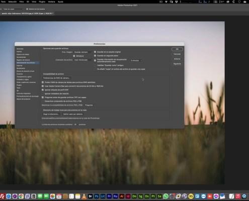 Preferencias de Photoshop Administración de archivos
