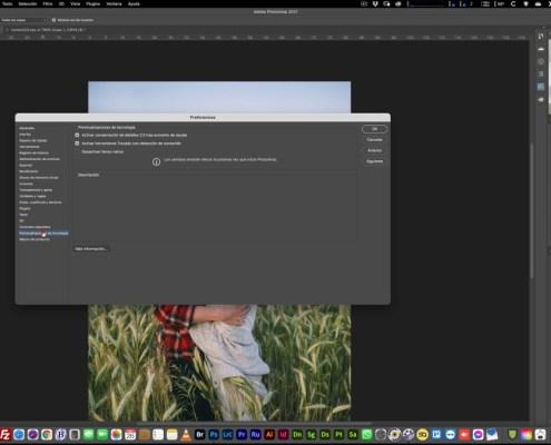 Ajustes de Photoshop Previsualizaciones de tecnología
