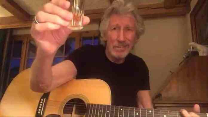Roger Waters drinking