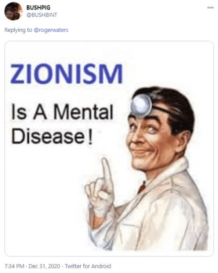 anti-Israel tweet