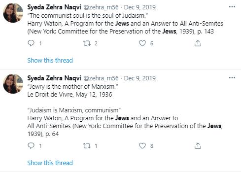 Zehra K. Mohsin tweet