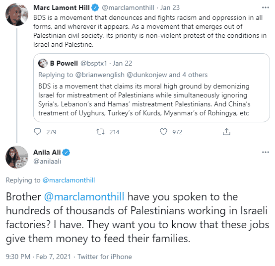 Anila Ali tweet to Marc Lamont Hill