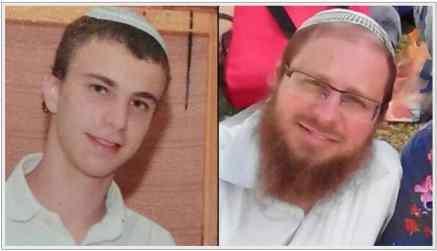 Left: Netanel Litman, 18, right: Rabbi Yaakov Litman.
