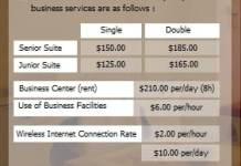 Aldeira hotel pricelist