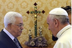 Pope Francis with PA Chairman Mahmoud Abbas