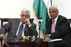 Mahmoud Abbas and Saeb Erekat