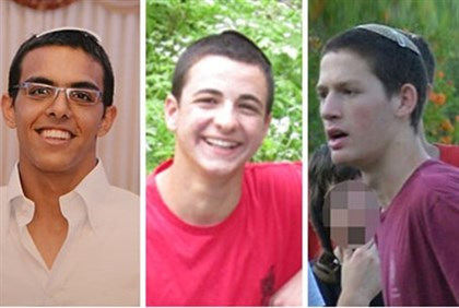 #BringBackOurBoys #EyalGiladNaftali. Left to right: Eyal Yifrah, Gil-ad Shayer and Naftali Frenkel