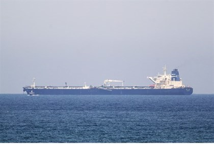 The Kurdish  SCF Altai tanker approaches Ashkelon port