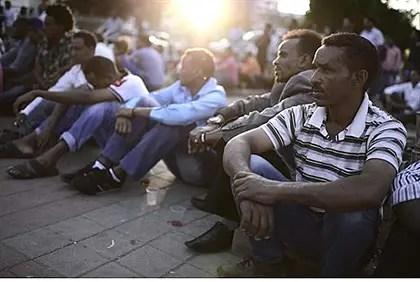 Inmigrantes eritreos en Tel Aviv