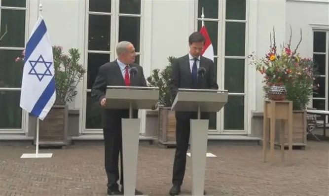 PM Netanyahu with Dutch PM Mark Rutte