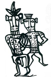 Изображения египетского божества Беса (пифос А)