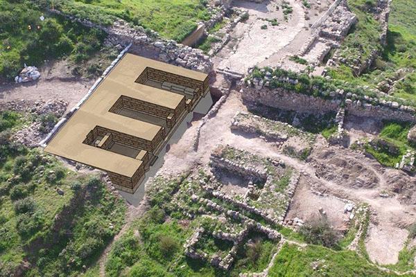 Компьютеризированное изображение городских ворот Лахиша