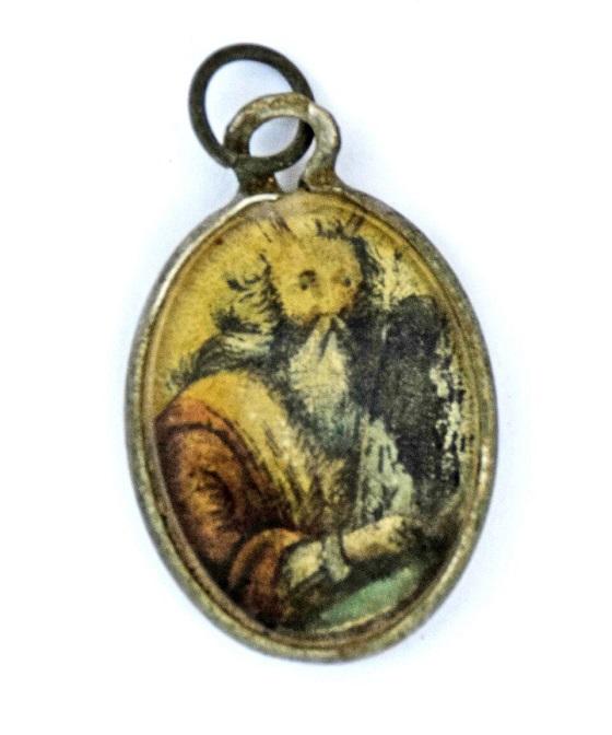 Позолоченный медальон с изображением Моше-рабейну со скрижалями Завета