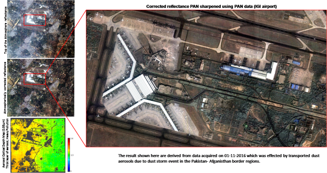 Cartosat-2 Series Satellite View of Delhi Encompassing IGI Airport on 01/11/2016