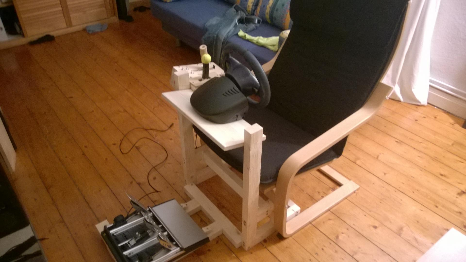 DIY Wheel Stand with Pong chair  Sim Racing Rigs