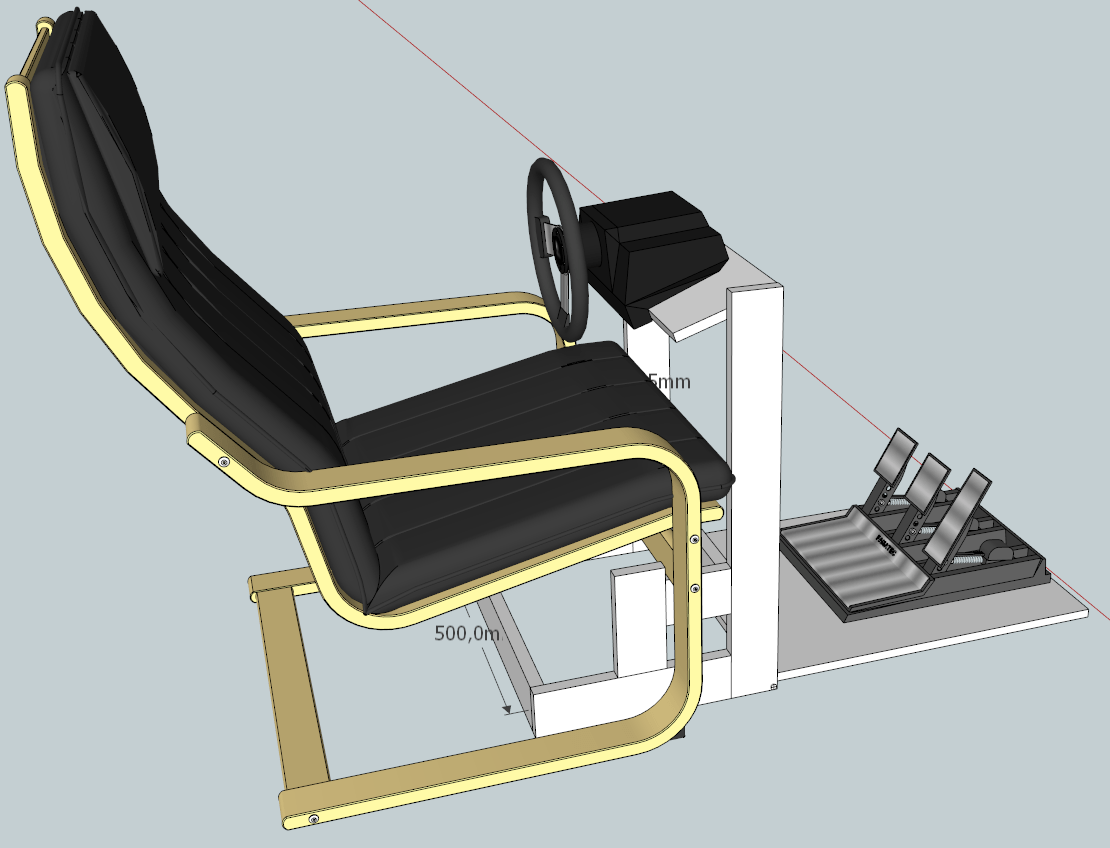 racing seat office chair diy football helmet wheel stand with poäng sim rigs