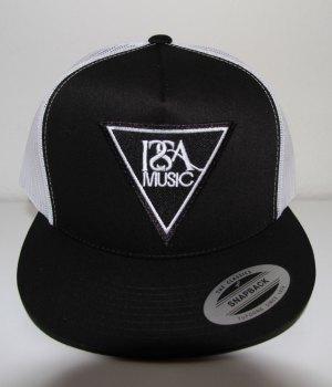 Black White Back Black Patch Hat