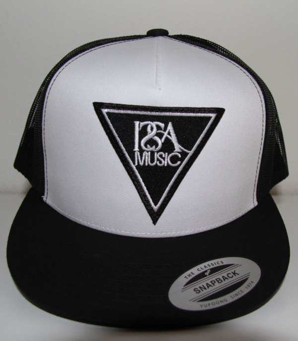 White Black Back Black Patch Hat