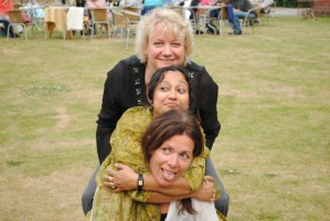Issie Barratt with Suranjana Ghosh and Maggi Olin - July 2010