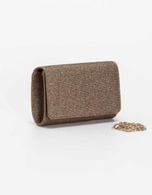 Τσάντα φάκελος μεταλιζέ - Bronze