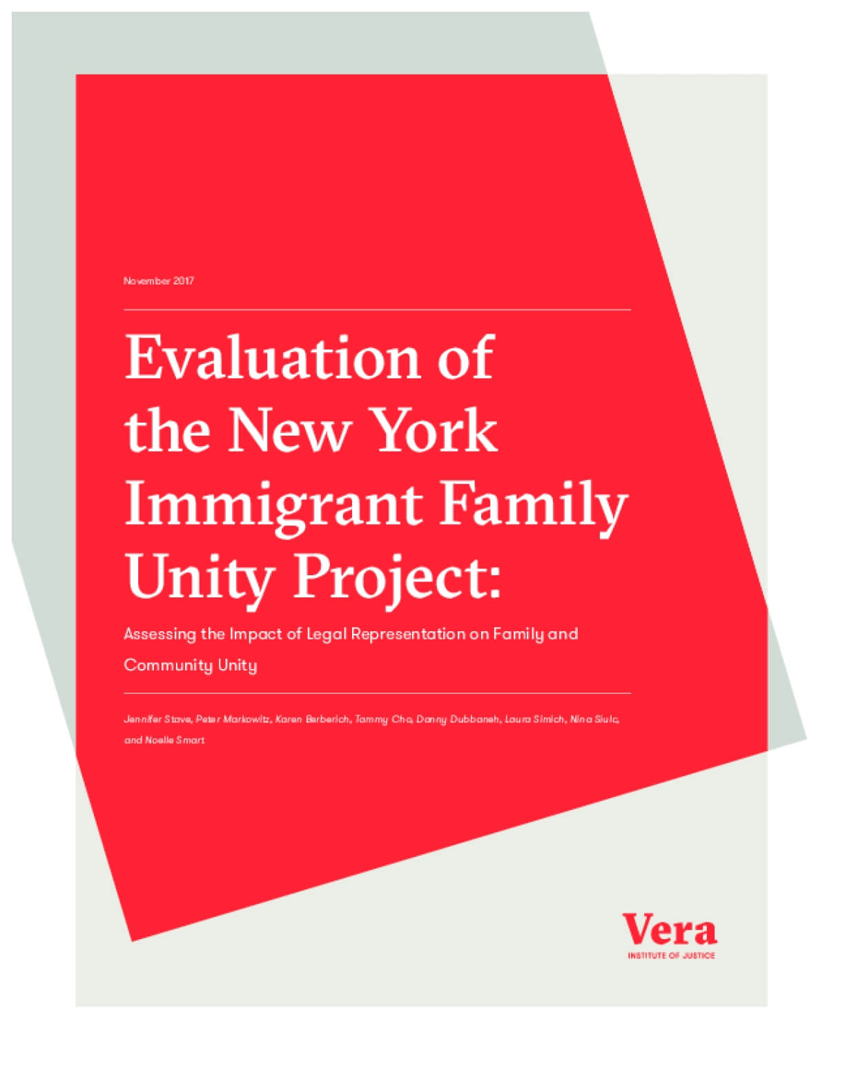 Evaluation Of The New York Immigrant Family Unity Project: Assessing The  Impact Of Legal Representation