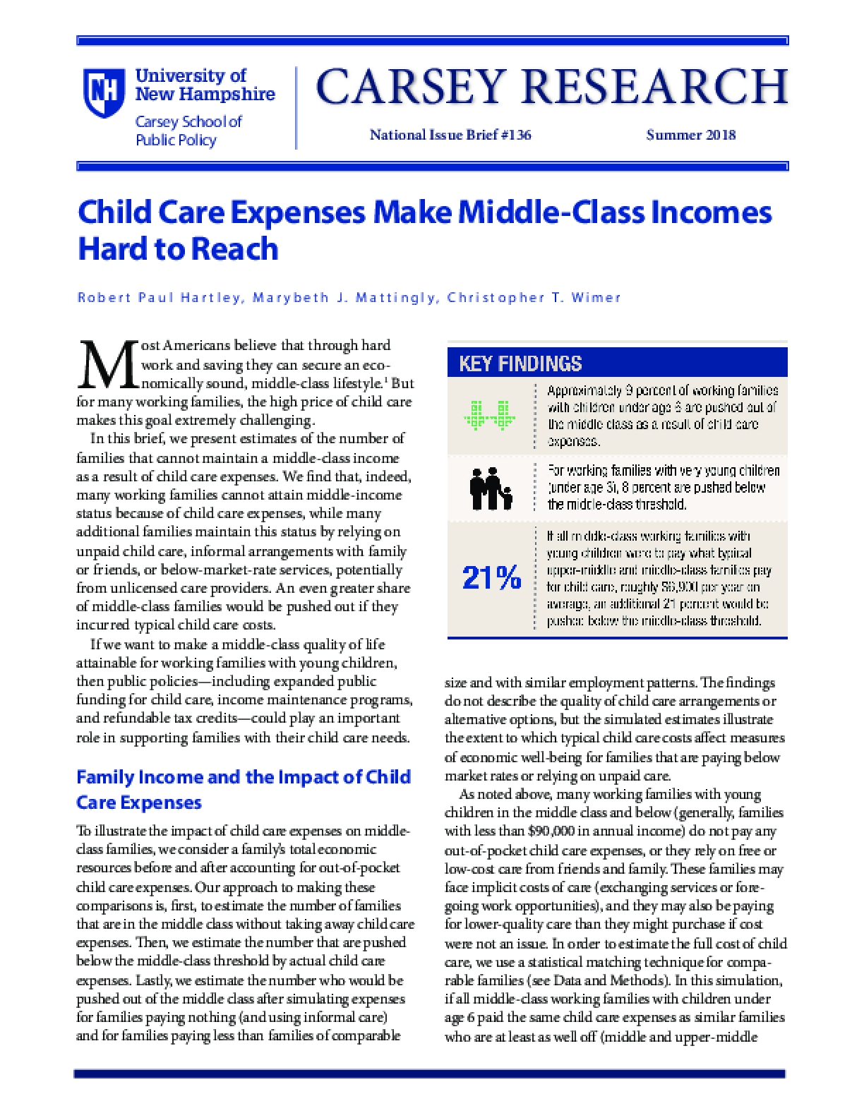 Child Care Expenses Make Middle Class Incomes Hard To