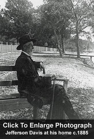 Jefferson Davis at home c. 1885