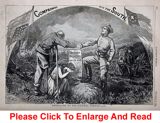 Thomas Nast's Original Compromise with the South Print
