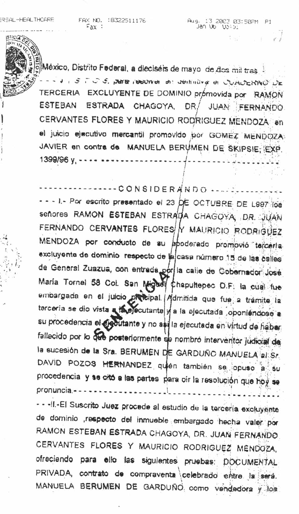 Istagosthi Virtual Judicial Resolution About Mexico City