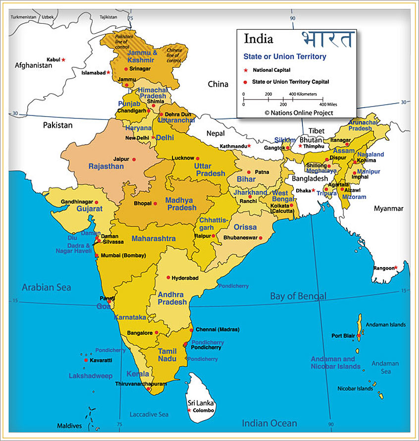 india map and india