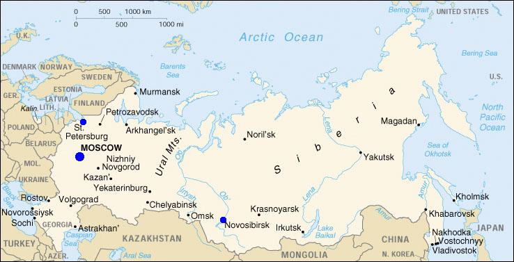 Region Map Chelyabinsk
