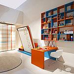 2014 Yeni Nesil Modern Çalışma Odası Dekorasyon Örnekleri